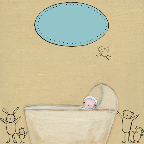 Welcome Baby Boy Canvas Wall Art By Oopsy Daisy