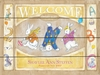 Welcome Bunnies Vintage Wood Sign