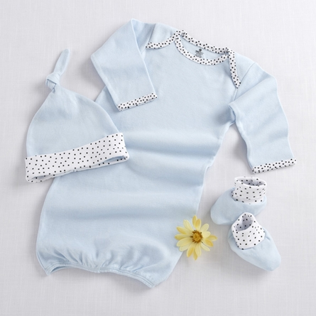 Welcome Home Baby 3-Piece Layette Set in Blue