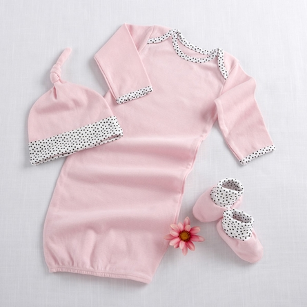 Welcome Home Baby 3-Piece Layette Set in Pink