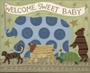 Welcome Sweet Baby Canvas Reproduction
