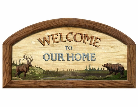 Welcome to Our Home Personalized Peel and Stick Wall Mural