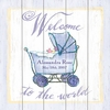 Welcome to the World Stroller Vintage Wood Sign