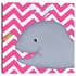 Wendy Whale Diptych in Pink Canvas Reproduction