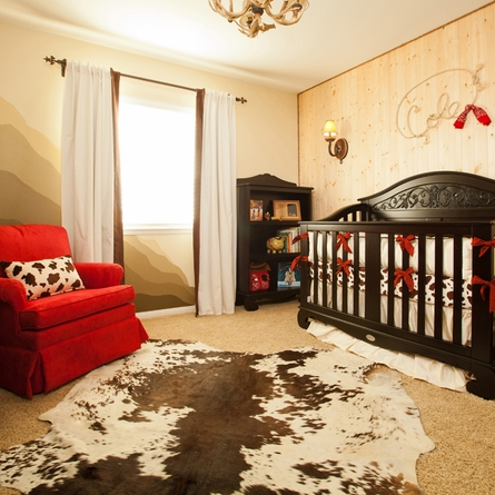 Western Silk Crib Bedding Set