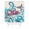Whale Blossom Shower Curtain