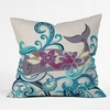 Whale Blossom Throw Pillow