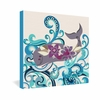 Whale Blossom Wrapped Canvas Art
