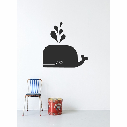 Whale Kids Wall Sticker in Black