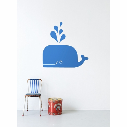 Whale Kids Wall Sticker in Blue