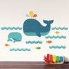 Whale Ocean Fabric Wall Decal