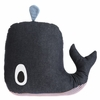 Whale Cotton Throw Pillow