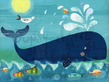 Whale Pals Canvas Wall Arts
