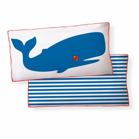 Whale Reversible Throw Pillow