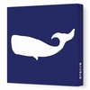 Whale Silhouette Canvas Wall Art