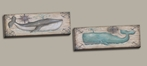Whale Watch I, II Canvas Reproduction Set