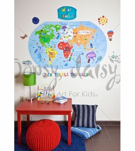 What A World Peel & Place Wall Stickers