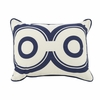 Wheels Throw Pillow in Cobalt Blue