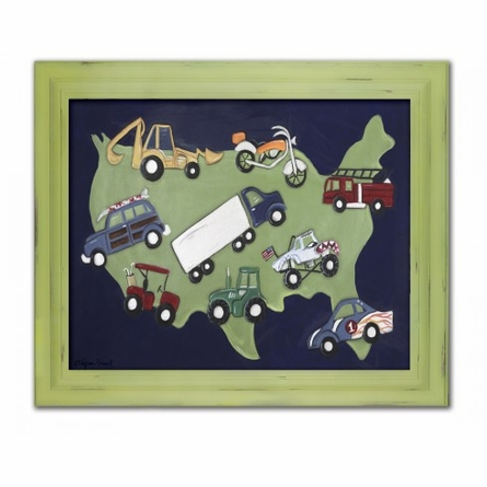 Wheels USA Framed Canvas Reproduction