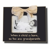 When a Child is Born Coal Picture Frame