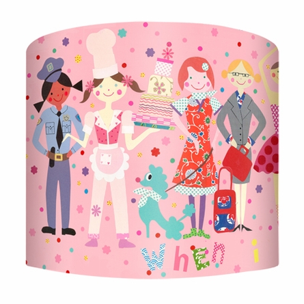 When I Grow Up Girls Lamp