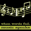 When Words Fail Music Speaks Canvas Reproduction