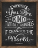 When You are Kind Chalkboard Vintage Framed Art Print