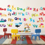 Whimsical Alphabet Wall Decals