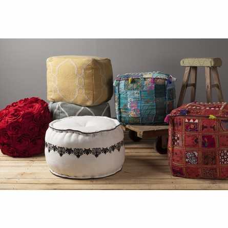 Whimsical Moroccan Square Pouf