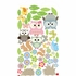 Whimsical Owl Family and Critters Wall Sticker
