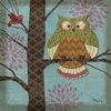 Whimsical Owl I Canvas Wall Art