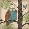 Whimsical Owl II Canvas Wall Art