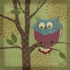 Whimsical Owl III Canvas Wall Art