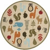 Whimsy Animals Round Rug