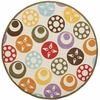 Whimsy Dots and Colors Round Rug