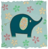Whimsy Elephant Canvas Reproduction