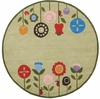 Whimsy Flowers in Bloom Round Rug