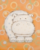Whimsy Hippo Hand Painted Canvas