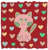Whimsy Kitty Canvas Reproduction