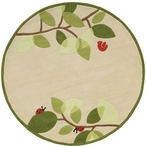 Whimsy On A Limb Round Rug