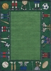 Whimsy Sports Rug in Grass