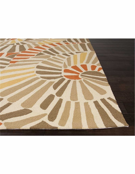 Whirligig Rug in Orange