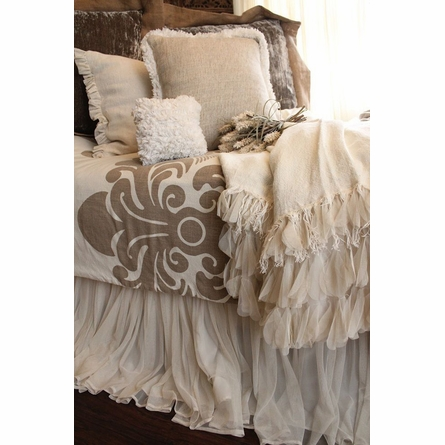 Whisper Ivory Petal Bed Skirt