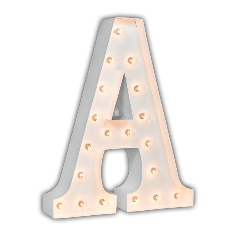 White 24 Inch Letter A Marquee Light By Vintage Marquee Lights