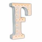 White 24 Inch Letter F Marquee Light