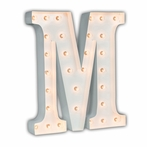 White 24 Inch Letter M Marquee Light