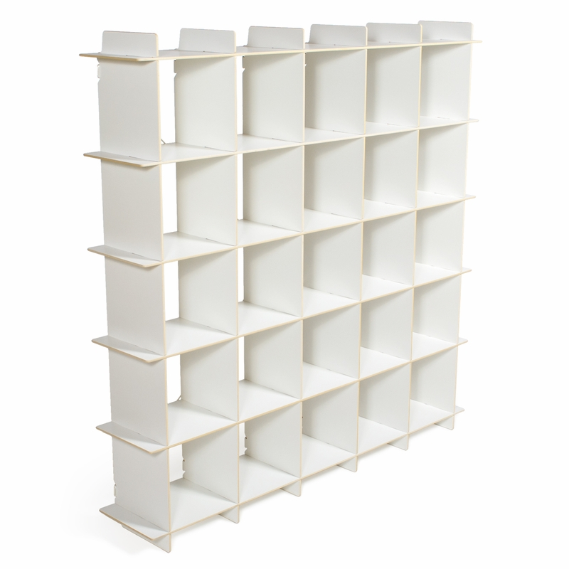White 25 Cubby Modern Shelving Unit By Sprout Kids