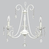 White 3 Light Bliss Chandelier