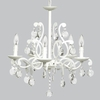 White 5 Light Elegance Chandelier