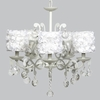 White 5 Light Elegance Chandelier With White Rose Garden Shades